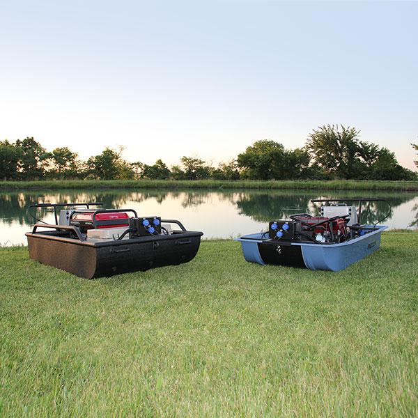 Mini-Boat Tote Barge Electrofishing System