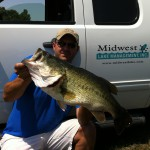 Shawn Banks with Largemouth Bass