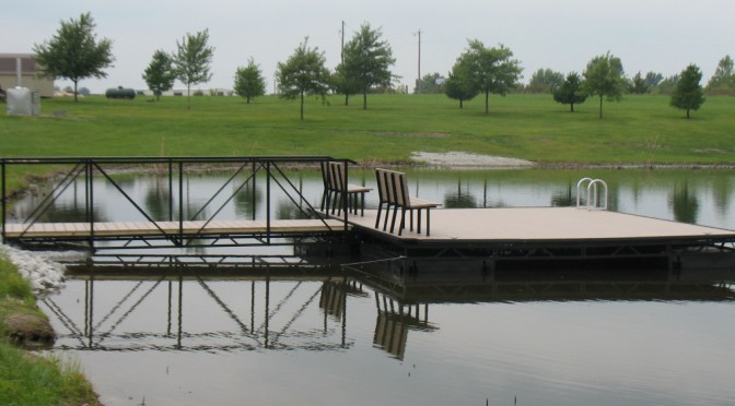 Pond and lake docks midwest lake for Small pond dock plans