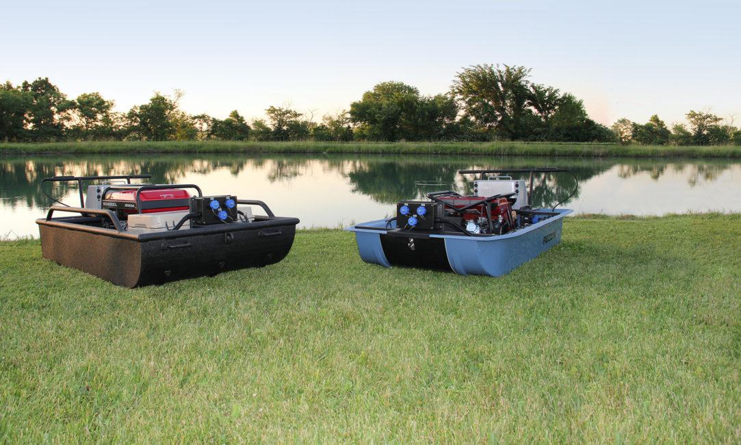Midwest Lake Electrofishing Mini-Boat Push Barge System