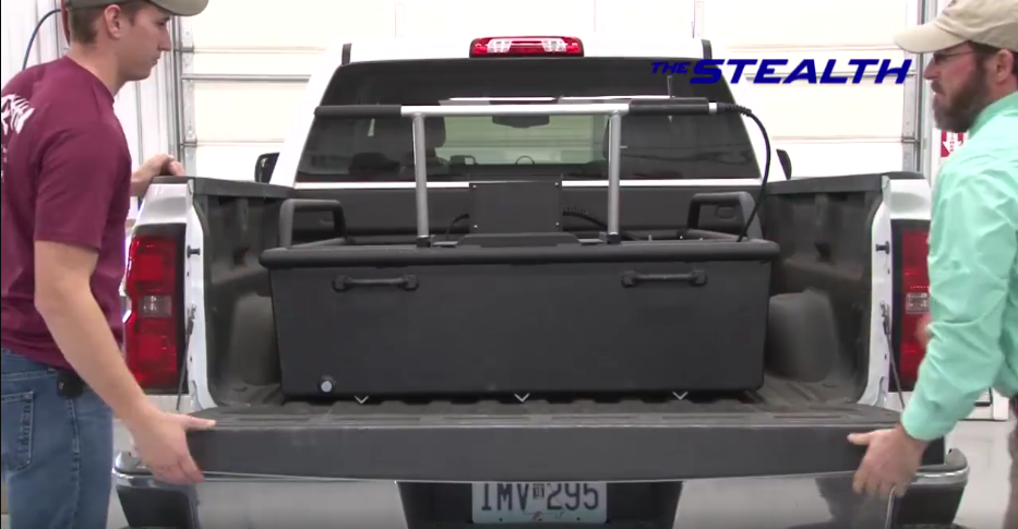 Stealth Mini-Boat fits in the back of any pick-up trucks